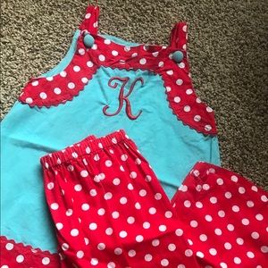 Other - Girls Sz5 Monogrammed Outfit